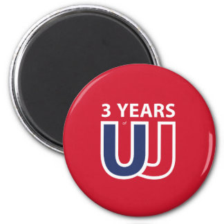 3 Years of Union Jack Magnet