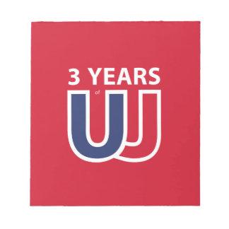 3 Years of Union Jack Notepad