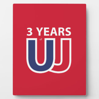 3 Years of Union Jack Photo Plaque