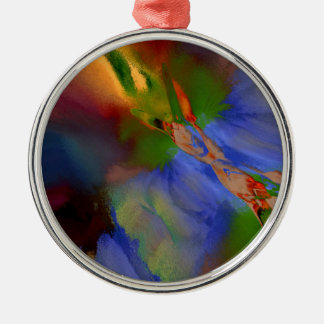 3b Silver-Colored round decoration