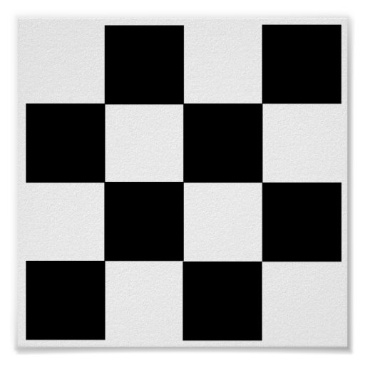 """3D - 4x4 Chess TAG Grid (1-1/4"""" fridge magnets) Poster"""