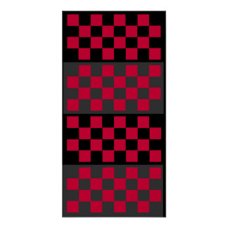 3D (8x4x4) Checkers TAG Board (Fridge Game) Poster