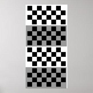 3D (8x4x4) Chess TAG Grid (Fridge Game) Poster