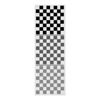 3D (8x8x3) Chess TAG Grid (fridge game) Posters