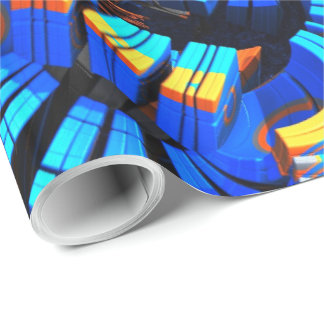 3D Abstract Art 23 Wrapping Paper