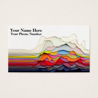 3D Abstract Design Business Cards