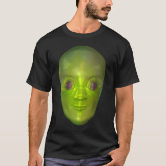 3D Alien Head Extraterrestrial Being Dark T-shirt