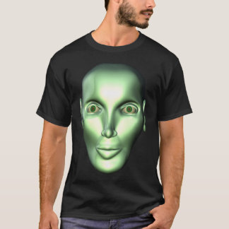3D Alien Head Extraterrestrial Being Kids Dark T-s T-Shirt