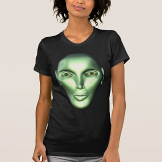 3D Alien Head Extraterrestrial Women's T-shirt