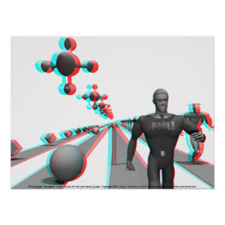 3D Anaglyph: Spaceport Poster