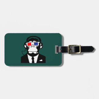 3D Ape Monkey Club Electro Motive Headphones Tag For Bags