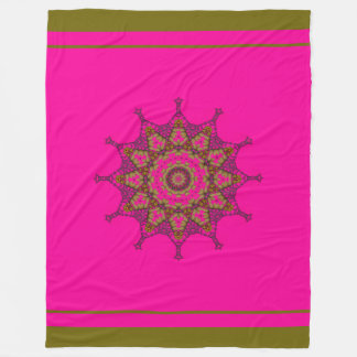 3D Art Mandala Fleece Blanket, Large