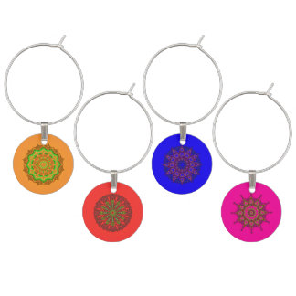 3D Art Mandala Wine Charms (Set of 4)