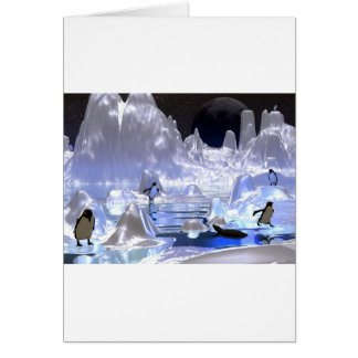 3d art penguin holiday card