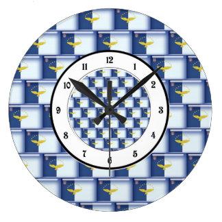 3D Azores flag pattern Clock