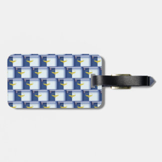 3D Azores flag pattern Bag Tags