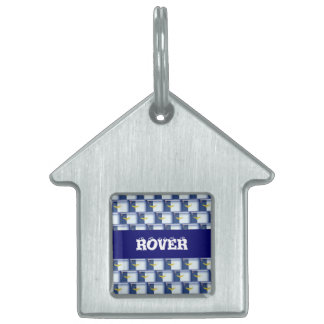 3D Azores flag pattern Pet ID Tags
