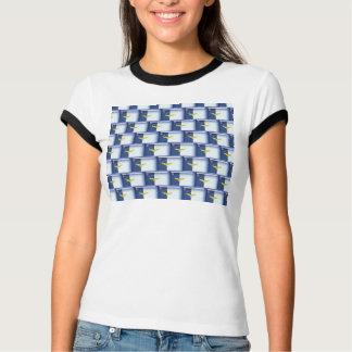 3D Azores flag pattern T-Shirt
