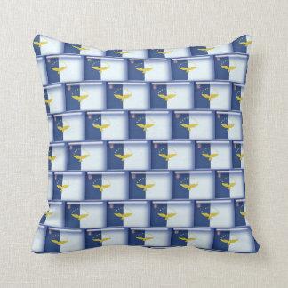 3D Azores flag pattern Throw Cushions