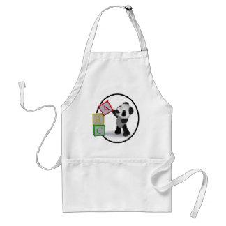 3d Baby Panda Alphabet Blocks Standard Apron