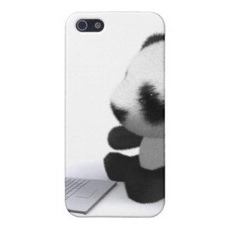 3d Baby Panda Laptop iPhone 5 Cases