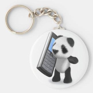 3d Baby Panda Mobile Phone Key Chain