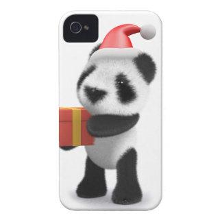 3d Baby Panda Santa Present iPhone 4 Cases