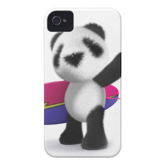3d Baby Panda Surfboard iPhone 4 Covers