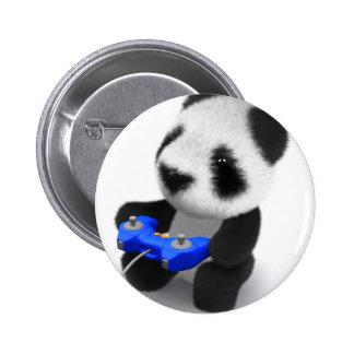 3d Baby Panda Videogamer Button