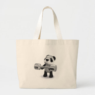 3d Baby Panda Weightlifter Bags