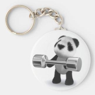 3d Baby Panda Weightlifter Keychain