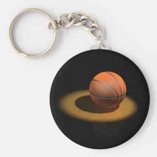 3d Basketball in Spotlight Key Chain