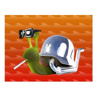 3d Biker Snail Hells Angel Postcard