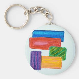 3D blocks Key Chains