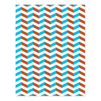 3D blue and red chevron Postcard