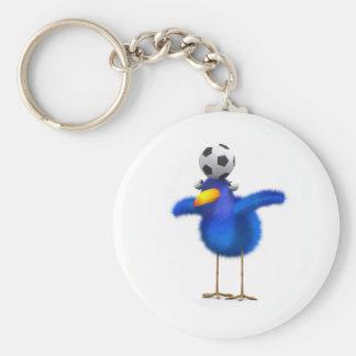 3d Blue Bird Football Key Chain