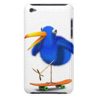 3d Blue Bird Skateboarder iPod Touch Cover