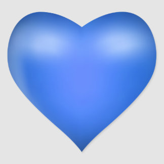 3D Blue Love Heart Heart Sticker