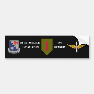 3D BN 1ST AVIATION 1ST INFANTRY BUMPER STICKER