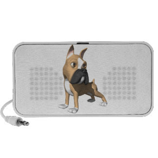 3d boxer dog graphic notebook speakers