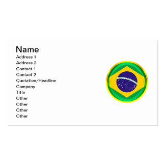 3D Brazil flag Pack Of Standard Business Cards
