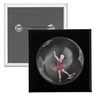 3D Bubble Ballerina 3 Buttons