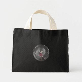 3D Bubble Ballerina 3 Mini Tote Bag