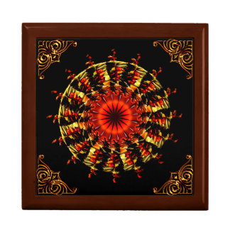 3D Butterfly Kaleidoscope Box by Krystyna Large Square Gift Box