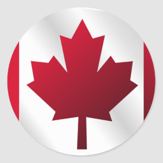 3D Canada Flag Classic Round Sticker