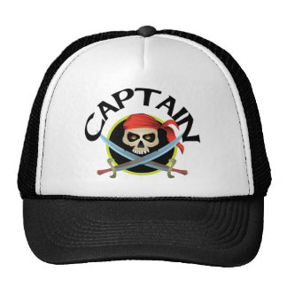 3D Captain Trucker Hats
