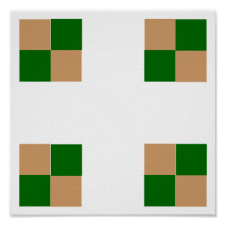 """3D Checkers TAG Board (1-1/4"""" fridge magnets) Posters"""