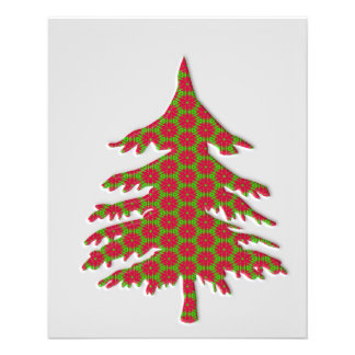 3d christmas tree 11.5 cm x 14 cm flyer