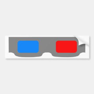 3D Cinema Glasses Bumper Sticker