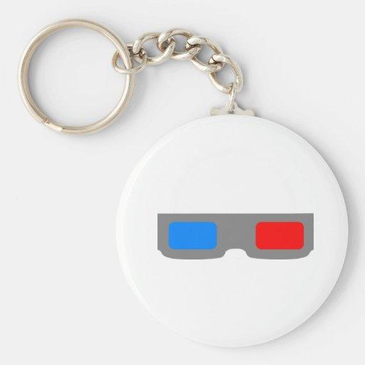 3D Cinema Glasses Keychain